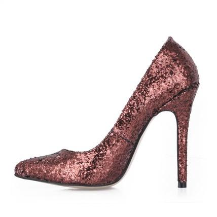 S Wedding Shoes Narrow Dress Stiletto Heel Sequined Cloth Sparkling Glitter Pumps Heels