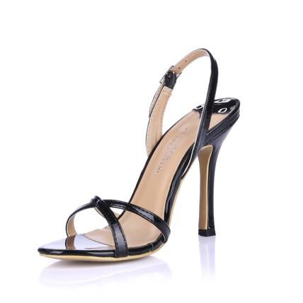 Buckle Wedding Shoes Slingbacks Girls' PU Honeymoon Stiletto Heel