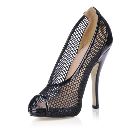 Open Toe Pumps/Heels Other Dress Average Stiletto Heel Hollow-Out