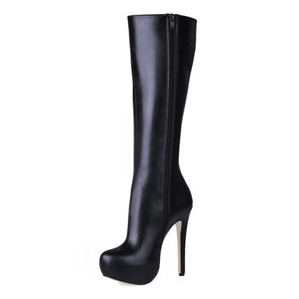 Mid-Calf Boots Boots Wide Zipper Closed Toe Dress Girls'