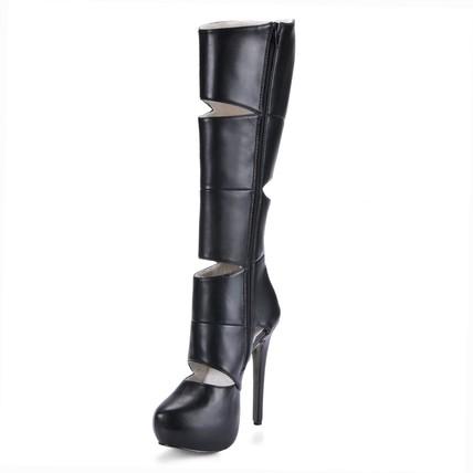 PU Boots Boots Wedding Girls' Stiletto Heel Mid-Calf Boots