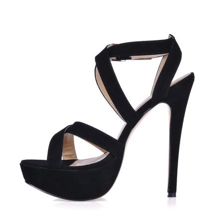 Stretch Fabric Wedding Shoes Slingbacks Girls' Wide Stiletto Heel Dress