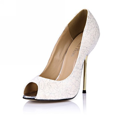 Average Pumps/Heels Dress Stiletto Heel Peep Toe Silk Like Satin Girls'