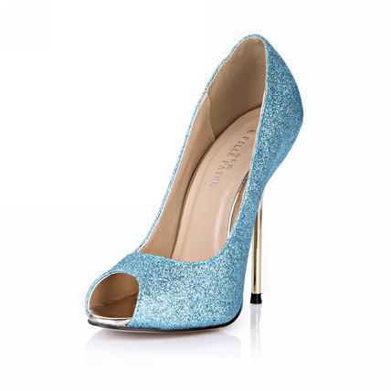 Stiletto Heel Sandals Peep Toe Girls' Wedding Average Sparkling Glitter