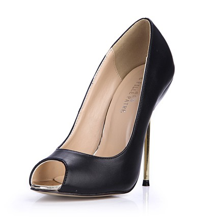 PU Pumps/Heels Round Toe Average Party & Evening Stiletto Heel Girls'
