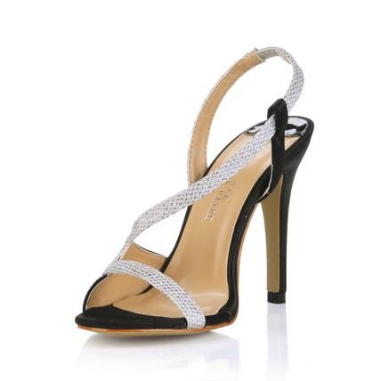 Sequined Cloth/Sparkling Glitter Sandals Open Toe Average Dress Girls' Stiletto Heel