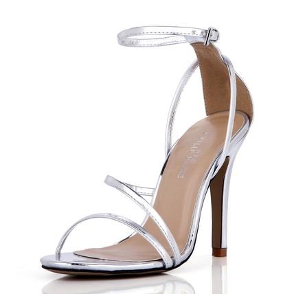 PU Pumps/Heels Outdoor Buckle Girls' Stiletto Heel Sandals