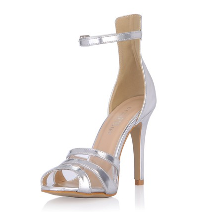 Stiletto Heel Sandals Women's Sandals PU Dress Buckle