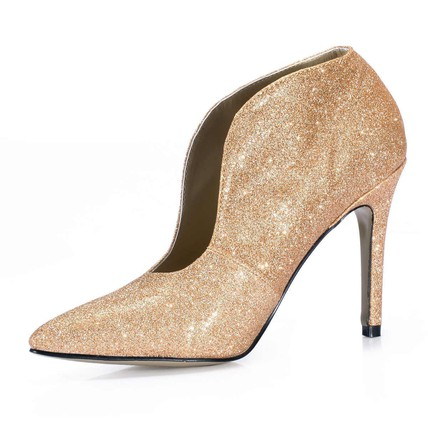 Sequined Cloth/Sparkling Glitter Pumps/Heels Booties/Ankle Boots Wedding Girls' Closed Toe Stiletto Heel