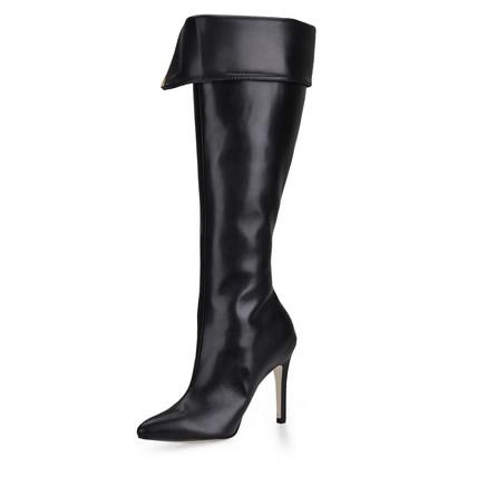 PU Pumps/Heels Girls' Knee High Boots Dress Stiletto Heel Ruched