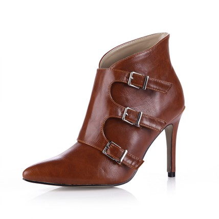 PU Boots Party & Evening Stiletto Heel Closed Toe Women's Booties/Ankle Boots