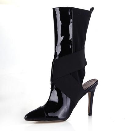 Stiletto Heel Boots Opalescent Lacquers Split Joint Cap-Toe Party & Evening Women's