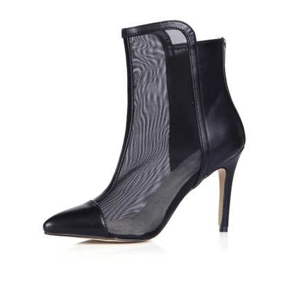 Average Wedding Shoes Nylon Closed Toe Split Joint Stiletto Heel Wedding