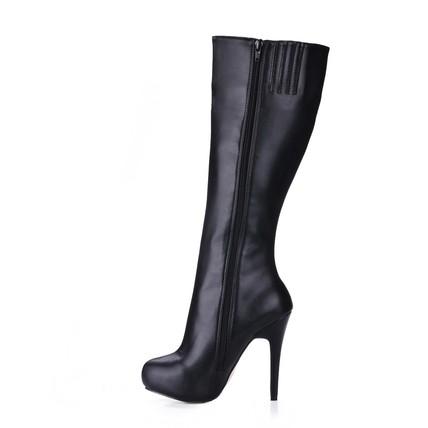 Narrow Wedding Shoes Stiletto Heel Girls' Knee High Boots Boots Zipper