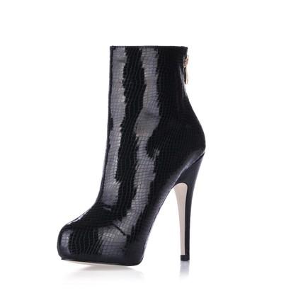 Office & Career Pumps/Heels Stiletto Heel Opalescent Lacquers Bootie Narrow Zipper