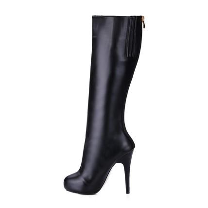 Stiletto Heel Boots Zipper Girls' Outdoor Closed Toe Knee High Boots