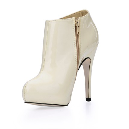 Narrow Boots Booties/Ankle Boots Boots Zipper Opalescent Lacquers Stiletto Heel