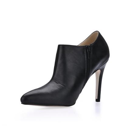 Closed Toe Wedding Shoes Stiletto Heel PU Average Outdoor Zipper