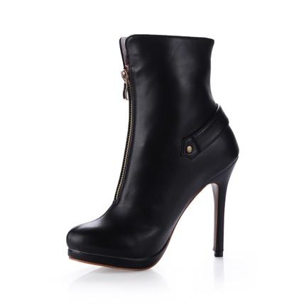 Stiletto Heel Boots Booties/Ankle Boots Girls' PU Graduation Zipper
