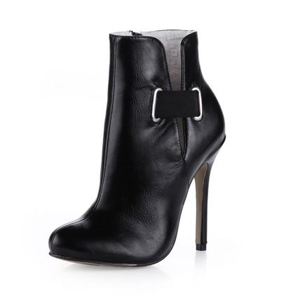 Booties/Ankle Boots Wedding Shoes Stiletto Heel Zipper Graduation Boots Average