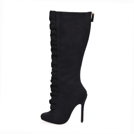 Boots Wedding Shoes Dress Women's Stiletto Heel Average Knee High Boots