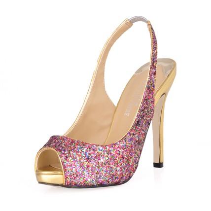Women's Platforms Sparkling Glitter Honeymoon Stiletto Heel Pumps/Heels Narrow