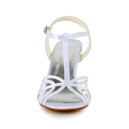 cream girls' wedding shoes satin casual open toe kitten
