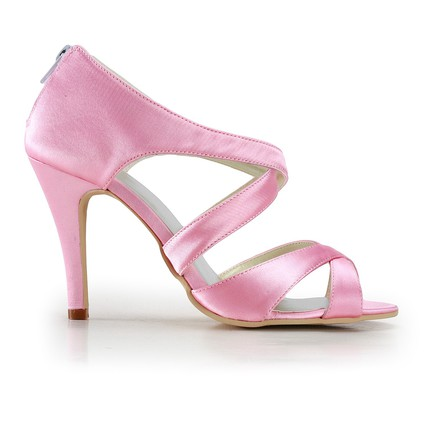 carnation pink kitten heel wedding shoes girls' dress