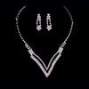 Anniversary Drop Earrings Claw Chains Jewelry Sets Beautiful