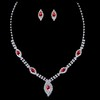 Stylish Pendant Necklaces Rhinestones Anniversary Jewelry Sets