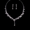 Anniversary Pendant Necklaces Rhinestones Stylish Jewelry Sets