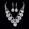 High Quality Clip Earrings Rhinestones Jewelry Sets Birthday