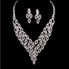 Rhinestones Pendant Necklaces Unique Jewelry Sets Wedding