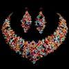 Rhinestones Chain Necklaces Wedding Attractive Jewelry Sets