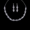 Party Chain Necklaces Elegant Rhinestones Jewelry Sets