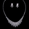 Gift Pendant Necklaces Jewelry Sets Attractive Rhinestones