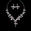 Eye-catching Pendant Necklaces Rhinestones Engagement Jewelry Sets