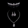 Rhinestones Drop Earrings Jewelry Sets Wedding Fashional