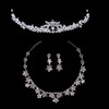 Rhinestones Chain Necklaces Anniversary Eye-catching Jewelry Sets