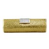 Satin Clutches Fashional Single Strap Simulated Leather Texture