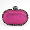 Satin Clutches Detachable Strap Metal Elegant