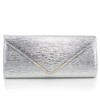 Fashional Clutches PU Single Shoulder Strap Metal
