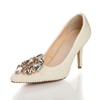 Rhinestone Wedding Shoes Patent Leather Office & Career Cone Heel Average Girls'