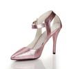 Average Wedding Shoes Genuine Leather Cone Heel Girls' Outdoor Buckle