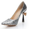 Sparkling Glitter Wedding Shoes Girls' Sequined Cloth/Sparkling Glitter Pumps/Heels Spool Heel Average