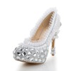 Average Wedding Shoes Closed Toe Dress Stiletto Heel Girls' Cloth