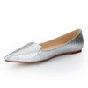 Ruched Wedding Shoes Sheepskin Average Pointed Toe Girls' Flat Heel