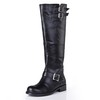 Low Heel Wedding Shoes Graduation Knee High Boots Average Cow Leather Boots