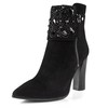 Closed Toe Wedding Shoes Zipper Women's Kitten Heel Booties/Ankle Boots Wedding