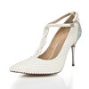 Cone Heel Pumps/Heels Party & Evening Average Closed Toe Imitation Pearl Patent Leather